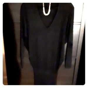 Black fitted sweater long or mini